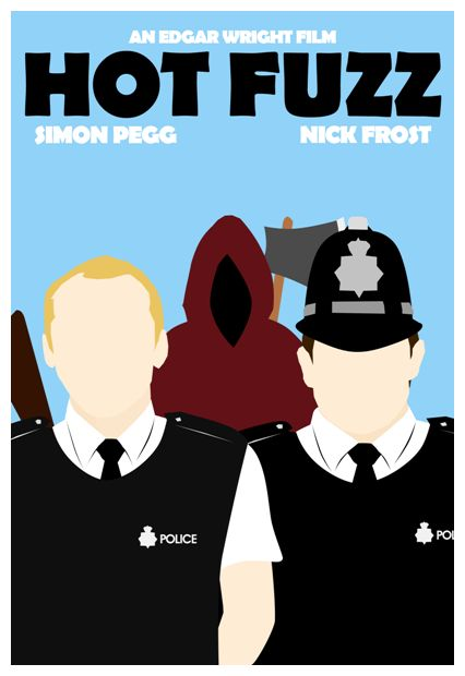 Hot Fuzz minimalist movie poster