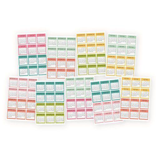 Cute Simple Stories Carpe Diem Planner Essentials Stickers Mini Monthly Calendar July to Dec