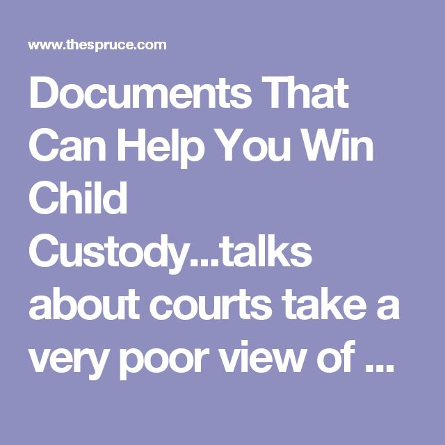 Documents That Can Help You Win Child Custody...talks about courts take a very poor view of a parent who interferes or impedes with the child parent relationship by not allowing phone calls