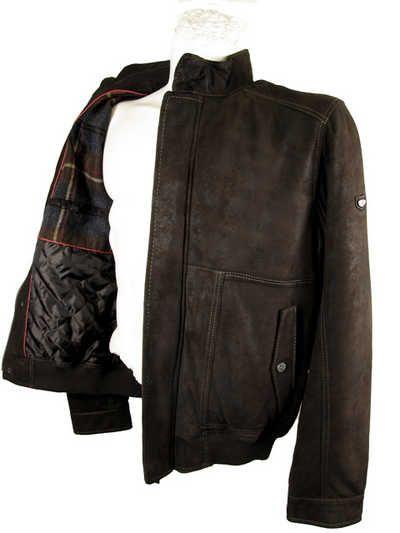 Trapper - Herren Lederjacke Lammnubuk dunkelbraun - Ihre Lederjacke direkt vom Fachhändler