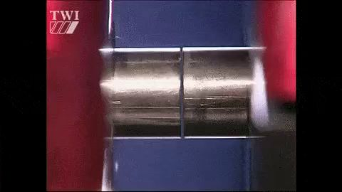 Because no melting occurs, friction welding is not a fusion welding process in the traditional sense, but more of a forge welding technique. #FrictionWelding #WelderWednesday #Welding #WeldingGIF #AWS #SummitCollege #SkilledTrades https://video.buffer.com/v/5a908d86f78c53801cf7a8a7