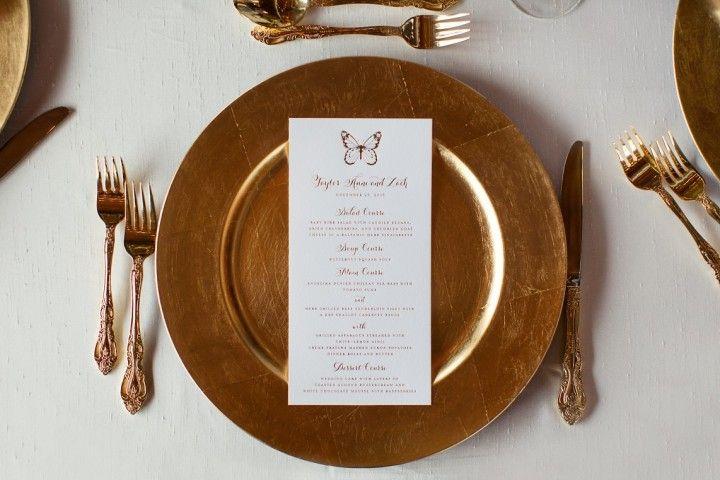 Colorful Rustic Dallas Wedding from Sarah Kate - wedding menu card idea