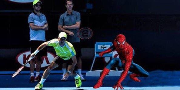 Australian Open 2015 Federe come l'UomoRagno