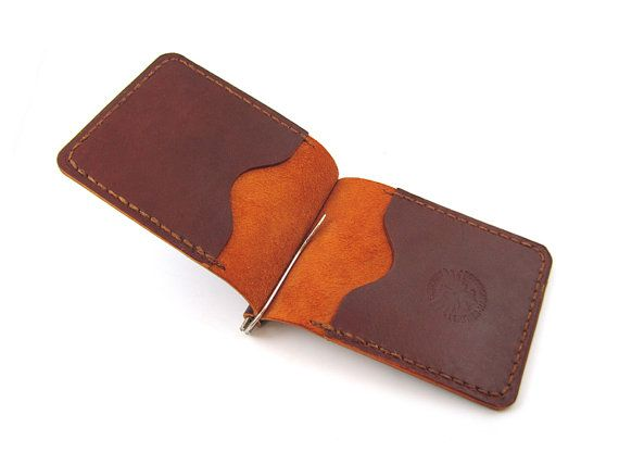 Leather Money Clip  Wallet  /   Simple Minimalist Leather Men's Card Wallet