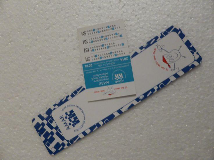 Calendarietto da tasca e segnalibro - progetto AMAR