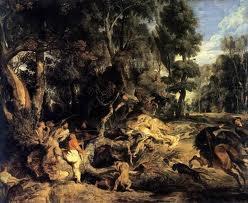 paesaggio con figure,meraviglioso esempio dell'arte del Rubens