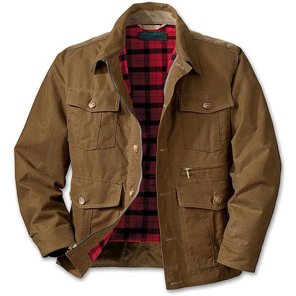 Filson Shelter Cloth Bomber Jacket Waxed Cotton For Men