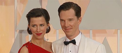 And then at the Oscars on Sunday, Benedict did the exact same thing as they posed for photos. And then KISSED HER ACTUAL CHEEK. | Benedict Cumberbatch