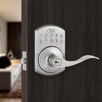 ToledoFineLocks Jaén Keyless Electronic Left Hand Door Lever