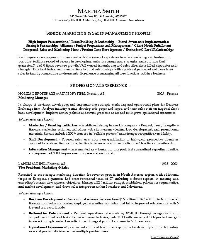 sales marketing resume sample marketing and sales resumes