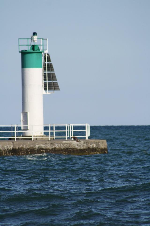 Lighthouse down at the lake in Oshawa