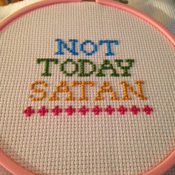 RuPauls Drag Race - Bianca Del Rio - Not Today Satan cross stitch! Embrace your inner diva - or share with a friend! *item DOES come framed