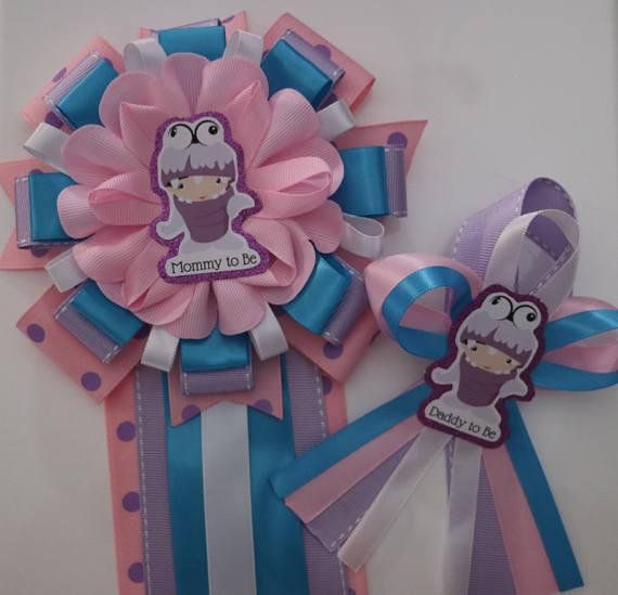 Monsters Inc Boo Baby Shower Mommy And Daddy To Be Corsage Set