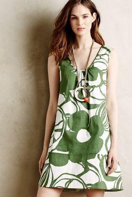 WHIT Two Verdant Garden Mini Dress #anthrofave