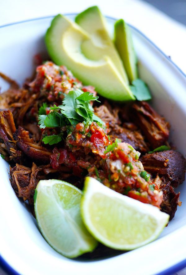 Carb-free carnitas in the slow cooker.