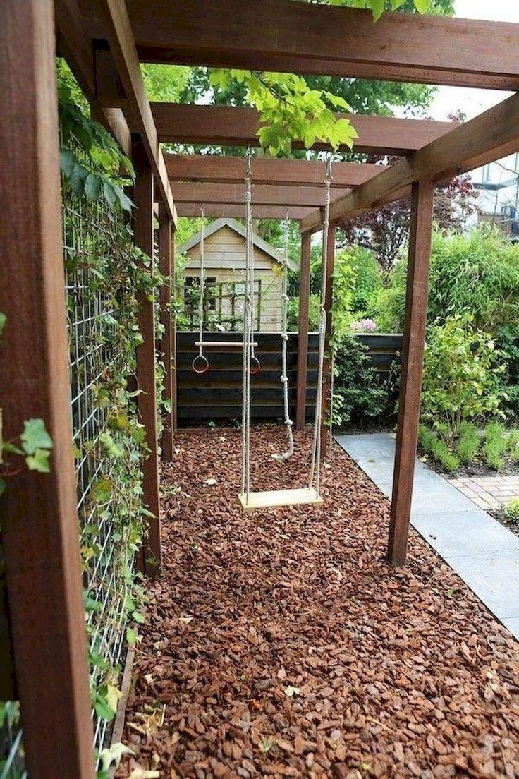 70 Exciting Small Backyard Playground Kids Design Ideas Kinderfreundlicher Garten Hinterhof Spielplatz Gartengestaltung