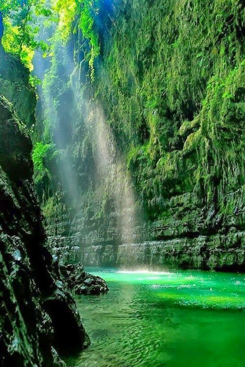 green canyon - west java, indonesia