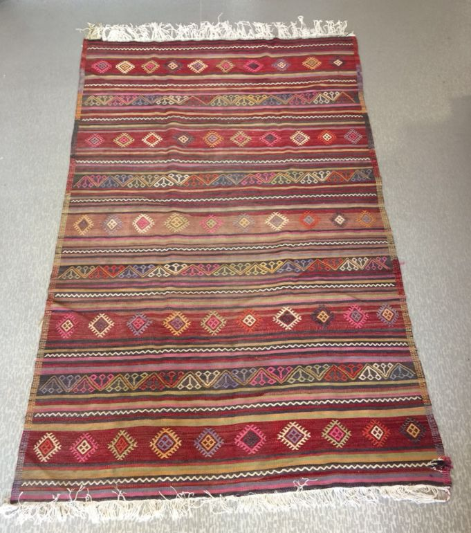 "TURKISH KILIM RUNNER, PINK, 267 x 162 cm ( 105 "" x 63 "" )"