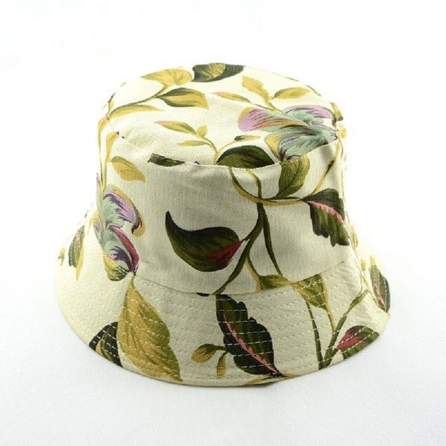 Bnaturalwell New Women cotton bucket hat Summer Beach Sun Hat floral flower hat Panama 1pc WH001D #Bnaturalwell #Bucket_Hats #women_clothing #stylish_Bucket_Hats #style #fashion