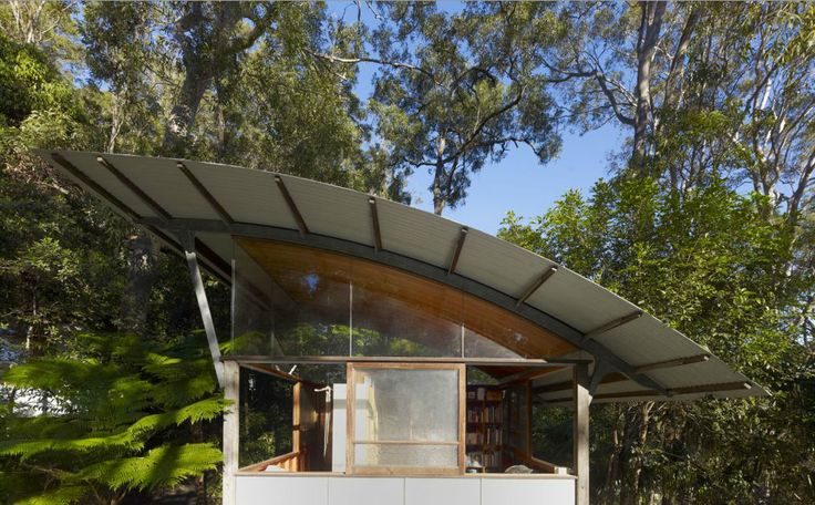 The Israel House by Peter Stutchbury. A vertical interpretation of the veranda.