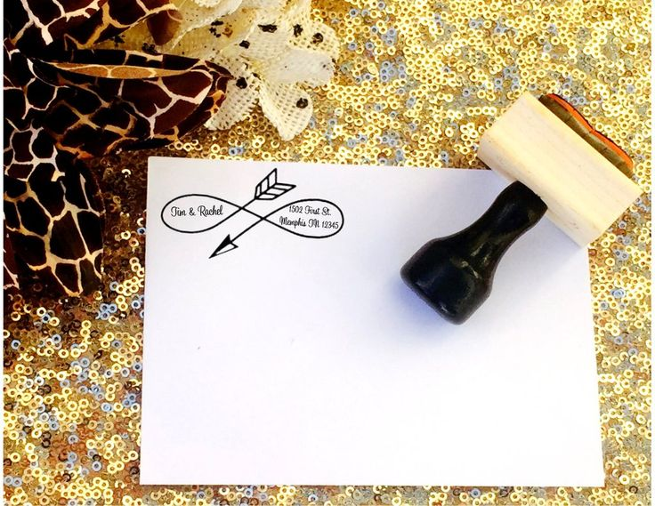 Arrow Custom return address stamp