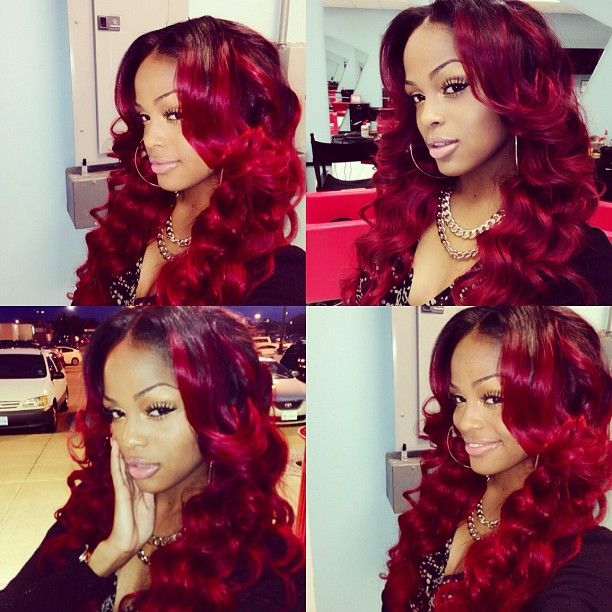 "Affordable luxury 100% virgin hair starting at $65/bundle in the USA. Achieve this look with our luxury line of Brazilian Body Wave hair extensions, available in lengths 12"" - 28"". www.vipextensionbar.com email info@vipextensionbar.com"