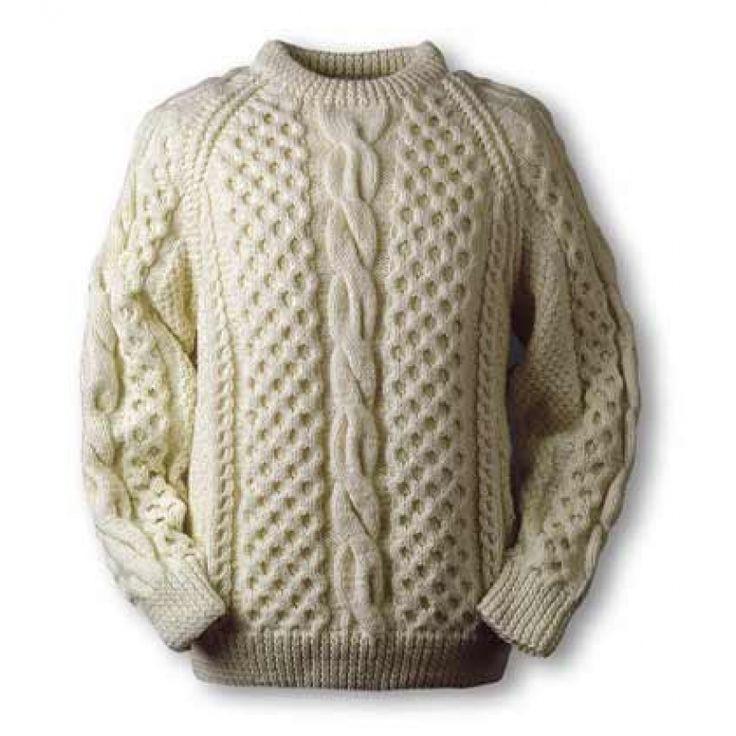 Carey style knit báinín sweater
