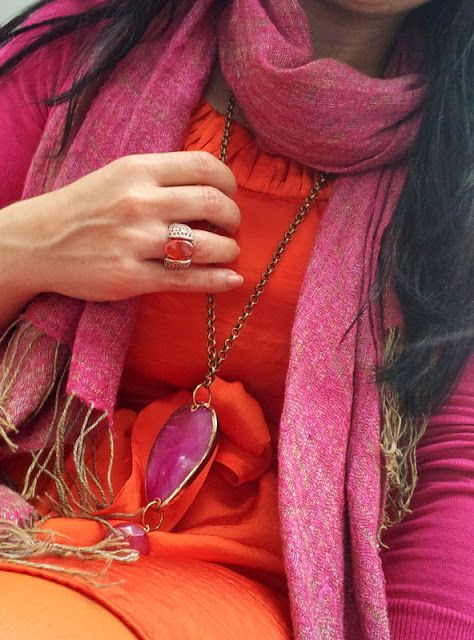 Naranja y Fucsia by http://tupersonalshopperviajero.blogspot.com.es/2013/03/orange-and-fuchsia-outfit.html