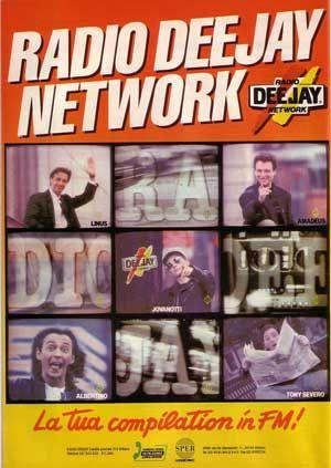 Pagina pubblicitaria Radio Deejay