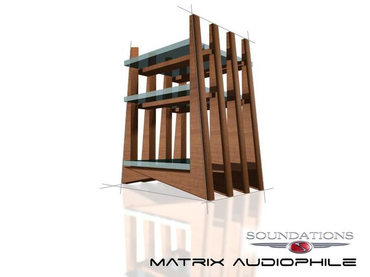 The new audiophile support stand, Soundation Matrix by murraykuun.com    for  furnituredesignlab.co.za