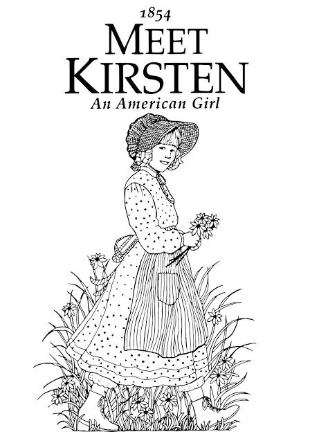 my cup overflows meet kirsten an american girl coloring page