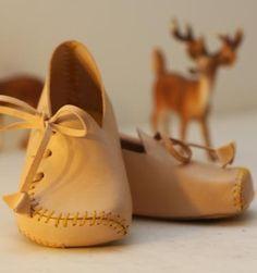 Georgina Goodman has designed these sumptious 100% Italian leather baby moccasins