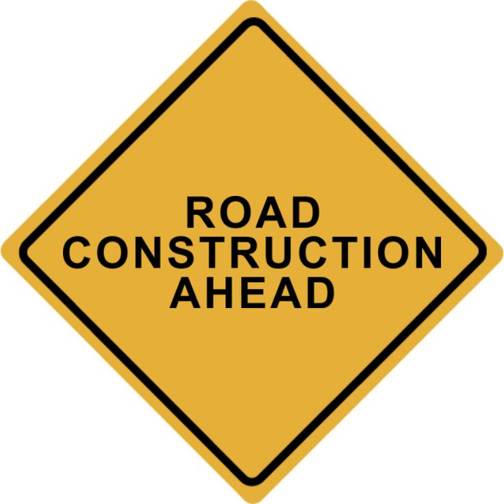 Custom Orange Road Construction Ahead Warning Sign : Front ...