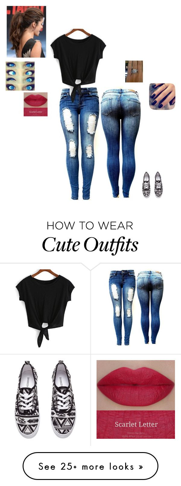 """Cute Outfit"" by marti208 on Polyvore featuring Lottie, H&M and She's So"