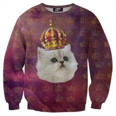 King cat sweater