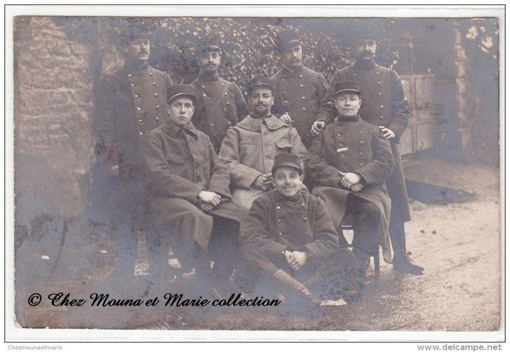 AUTUN 1915 - 269 EME REGIMENT - GROUPE DE SOLDATS - CARTE PHOTO MILITAIRE