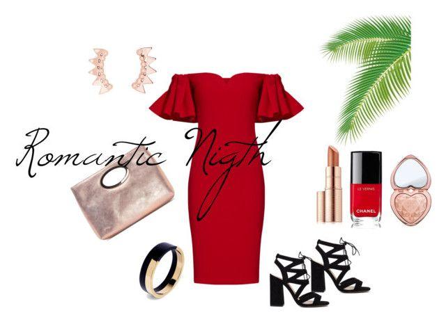 """Romantic night"" by michelle-bilodeau on Polyvore featuring moda, Badgley Mischka, Donald J Pliner, Estée Lauder, Chanel, Too Faced Cosmetics y Marni"