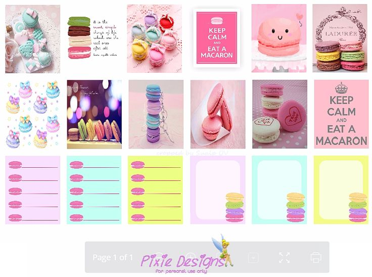 FREE Macaron planner stickers-free printable download by Sleek Planner Designs