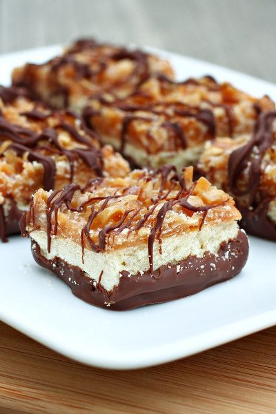 Instead of adding coconut I drizzled chocolate and added sea salt to the top. I must try these!!!!!!  Come Share your recipes with us on  facebook.com/TheTexasFoodNetwork #TheTexasFoodNetwork @Harry Dent Shelley Pogue