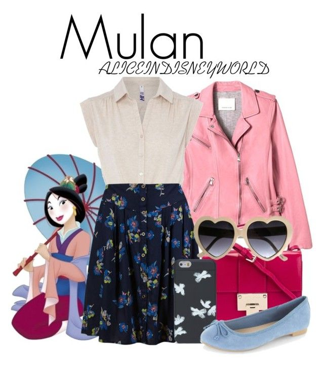 """""""Mulan"""" by aliceindisneyworld ❤ liked on Polyvore featuring Disney, H! by Henry Holland, Jimmy Choo, Marc by Marc Jacobs, disney, disneybound and mulan"""