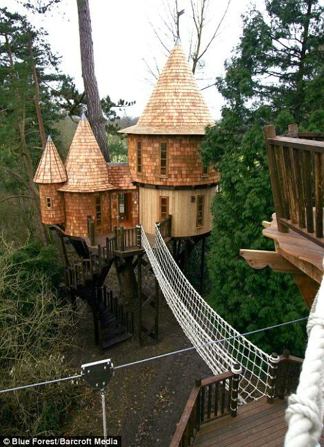 living the highlife tree house a luxurious tree house project by blueforest team from the uk the castle features two lofty spaces one for the children - Most Expensive Tree House In The World