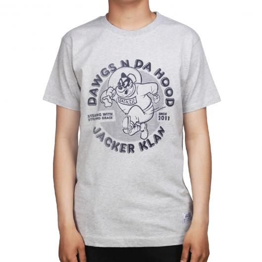 JACKER Tee-shirt Dawgs gris chiné 32,00 € #skate #skateboard #skateboarding #streetshop #skateshop @playskateshop
