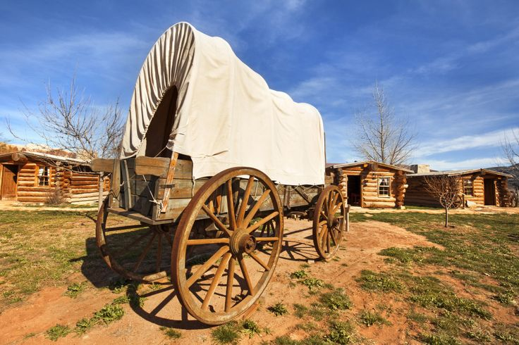 Old Covered Wagon puzzle in Puzzle of the Day jigsaw puzzles on TheJigsawPuzzles.com. Play full screen, enjoy Puzzle of the Day and thousands more.