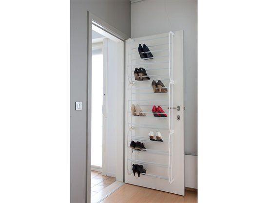 Schoenenrek - 180x57 cm - Wit Handig voor in de meterkast. Eindelijk geen schoenen meer in de gang!