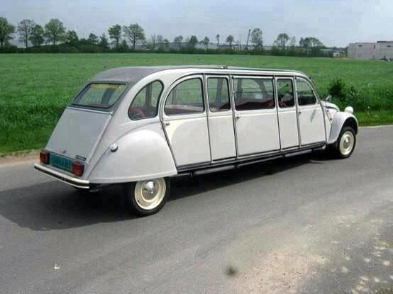 Citroen 2CV Limousin, stretched 2CV. v@e.