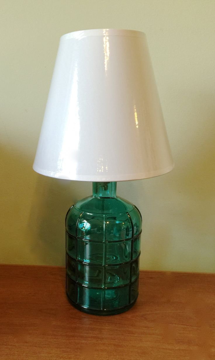 Small glass table lamps - Teal Green Glass Bottle Table Lamp Desk Lamp Glass Bottle Lamp Small Table