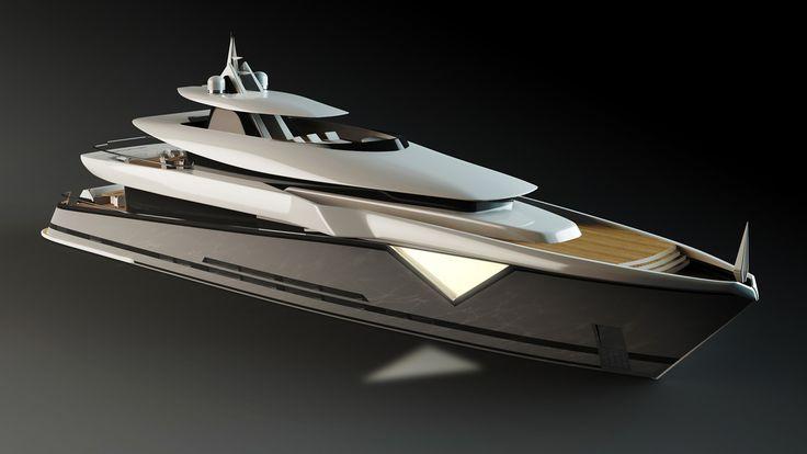 ThirtyC - Mako 50M #superyacht #yacht #design #yachtdesign #luxury #illustration www.thirtyc.com