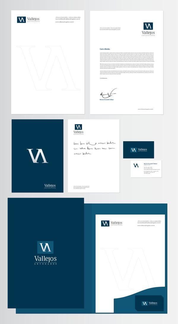Vallejos Advogados Brand Identity by Cecílio Mendes, via Behance   #stationary #corporate #design #corporatedesign #logo #identity #branding #marketing <<< repinned by an #advertising agency from #Hamburg / #Germany - www.BlickeDeeler.de   Follow us on www.facebook.com/BlickeDeeler