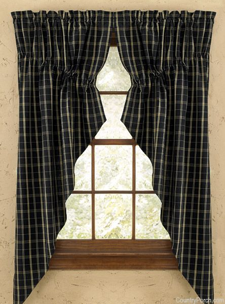 Blackstone Lined Gathered Window Curtain Swag Country Primitive Decor Pinterest Window