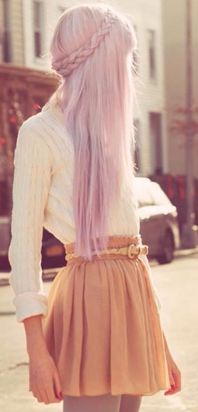 Pretty pastel and a braid - a winning Valentine's combination #hair #datenightstyle #pink